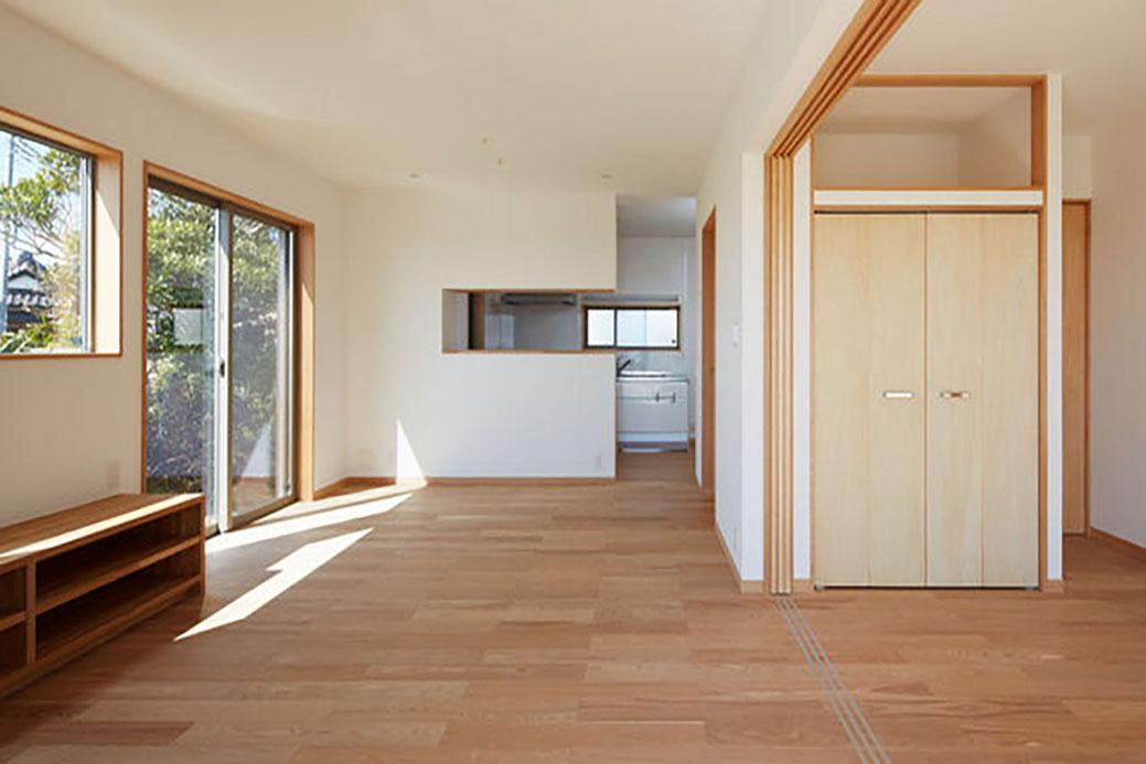LDKと個室をつなげて大空間を実現